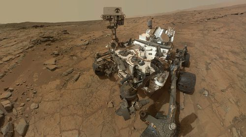 A self-portrait of NASA's Mars rover Curiosity. The space agency is aiming to send a manned mission to the Red Planet in the near future.