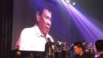 "Philippines President Rodrigo Duterte has performed ""on the orders"" of US President Donald Trump. (BBC)"