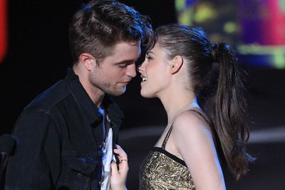 """<b>Robert Pattinson</b> and <b>Kristen Stewart</b> once did it for 12 hours straight…on the set of <i>Twilight</i>, that is. R-Patz admitted he got """"really carried away"""" while filming a sex scene with his on-again-off-again girl, saying: """"When we started the kissing scenes I forget we're surrounded by a load of people. It's only when the kiss is finished that my mind registers there's actually a set full of people around, and I just walk away embarrassed."""""""