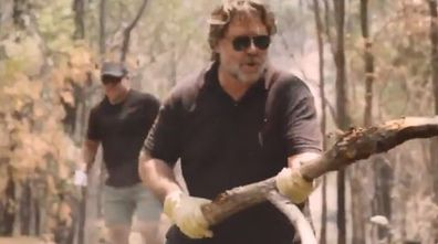 Russell Crowe, video, bushfire, NSW