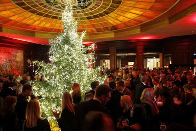 In Munich, Germany, the Christmas party for jewellery design company Swarovski hosts an expectedly lavish tree. (Dominik Bindl/Getty)