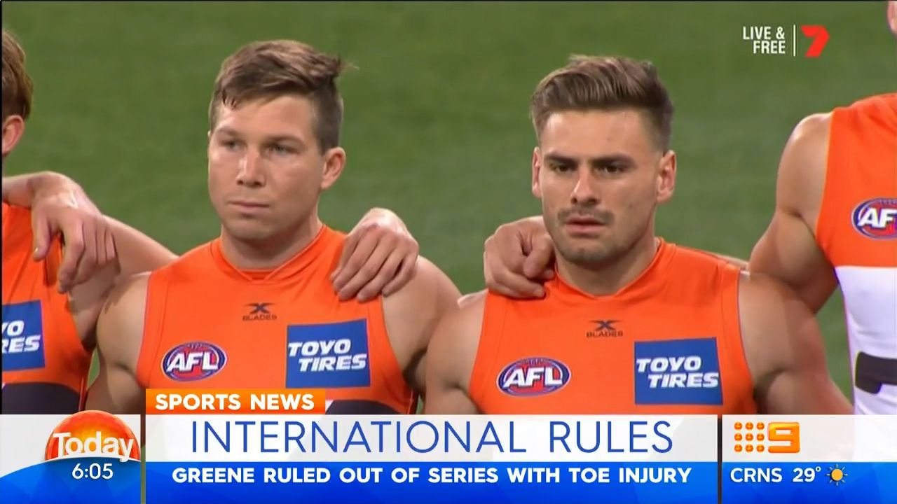 TODAY: Greene out of International Series