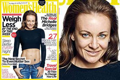 <i>Biggest Loser</i> trainer Michelle went makeup and Photoshop-free for <i>Women's Health</i>'s June 2014 issue.