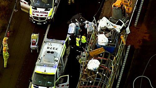 Wallan truck crash