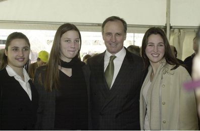 Paul Keating and his daughters (from left to right) Caroline,  Alexandra and Katherine in 2000.