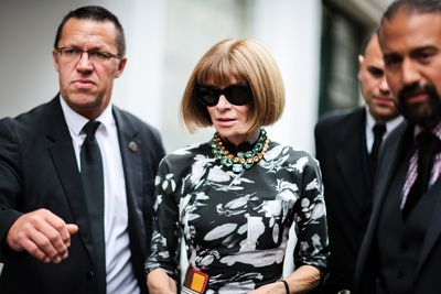 Vogue doyenne Anna Wintour's signature fringe - short, blunt and just a little chunky.