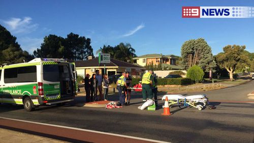 Cyclist in hospital after being struck by a car in Perth's south