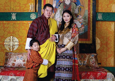 Bhutan royal family with new baby