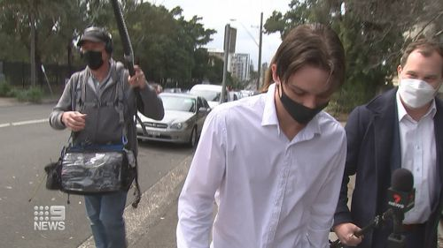 Jamie Pitman-Muir, 23, did not answer questions after his appearance in court today.