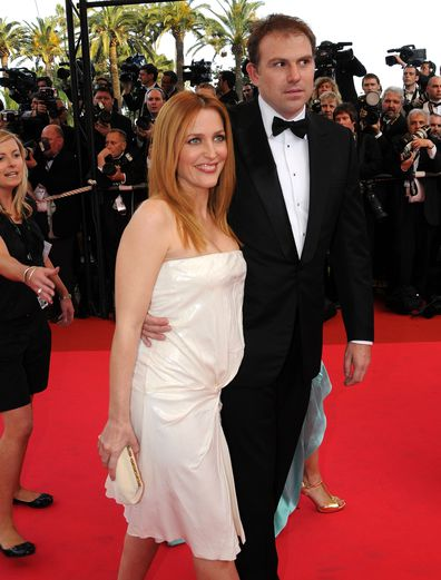Gillian Anderson, partner Mark Griffiths, Blindness premiere, Cannes International Film Festival, 2008