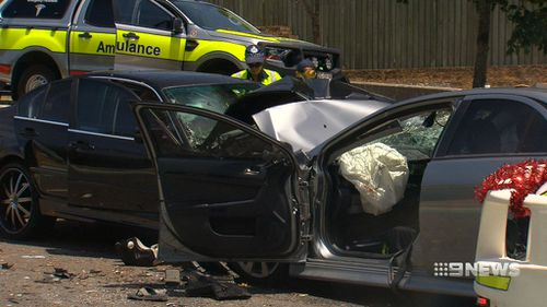 """Road Policing Command Superintendent David Johnson said the """"horrendous"""" crash had left many """"quite traumatised"""". (9NEWS)"""