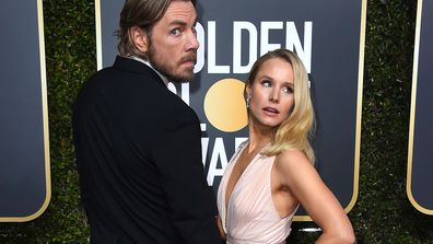 Dax Shepard, left, and Kristen Bell arrive at the 76th annual Golden Globe Awards at the Beverly Hilton Hotel on Sunday, Jan. 6, 2019, in Beverly Hills, California