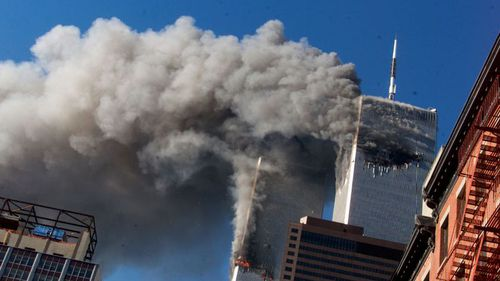 A file photo of the 9/11 attacks against the Twin Towers in New York City. (AP)
