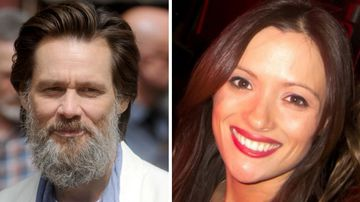 Jim Carrey (left) and former girlfriend Cathriona White (right)