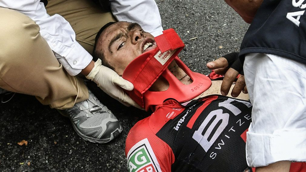 Stricken Richie Porte relieved not to be worse off after Tour de France crash
