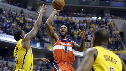 Rasual Butler playing for the Washington Wizards in 2015. (AAP)