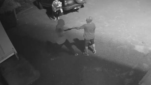 The thug then strikes the man, aged in his 70s, in the chest, arm and head with the gun.