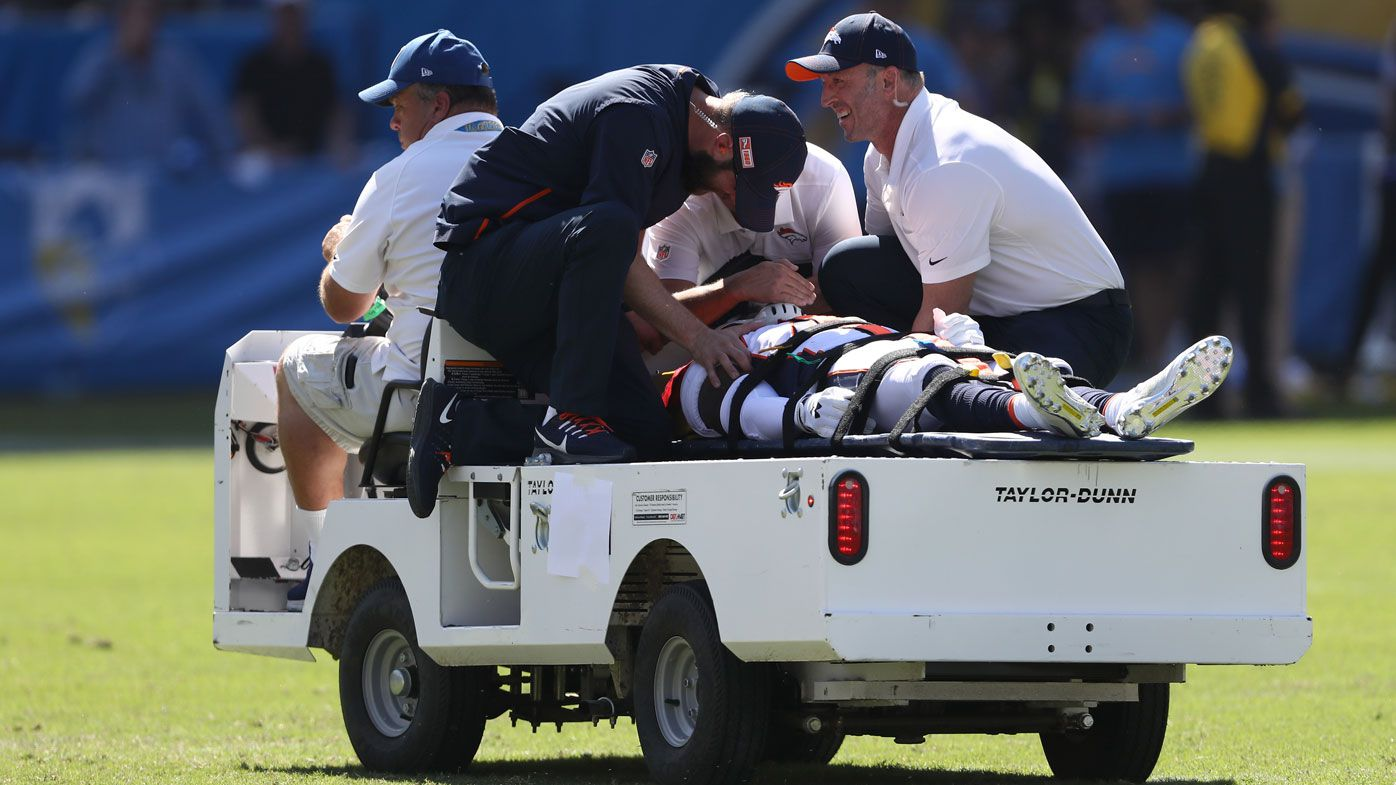 Denver Broncos corner DeVante Bausby 'paralysed for 30 minutes' after clash during Chargers match