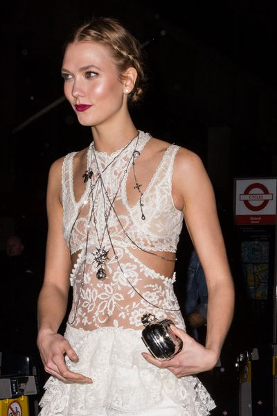 Victoria's Secret angel Karlie Kloss at theBRIT Awards After-Party in London in February, 2017