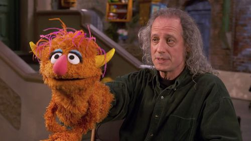 Puppeteer Marty Robinson and character Parker.