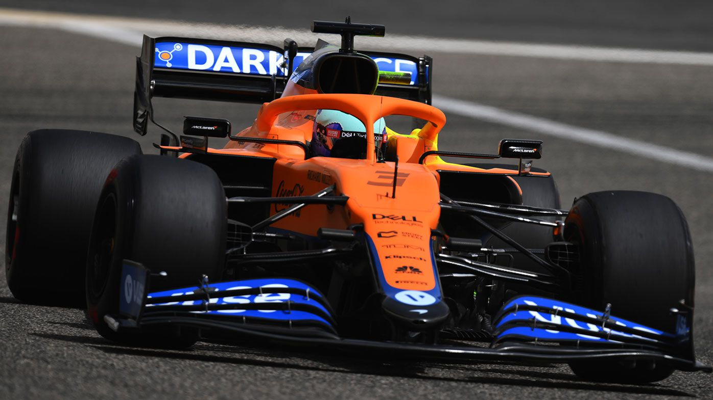 Daniel Ricciardo in action for McLaren during the Bahrain test.