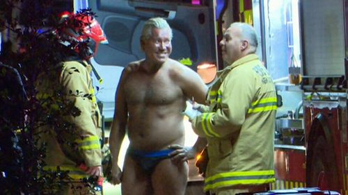 Mr Wagemaker says he knows the man who started a fire in his home earlier this morning. (9NEWS)