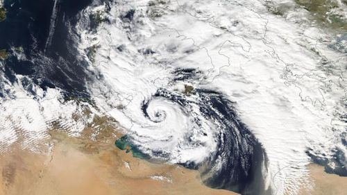 The 'Medicane' is a rare hurricane like storm.