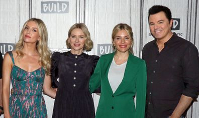 Annabelle Wallis, Naomi Watts, Sienna Miller and Seth MacFarlane attend The Loudest Voice press event