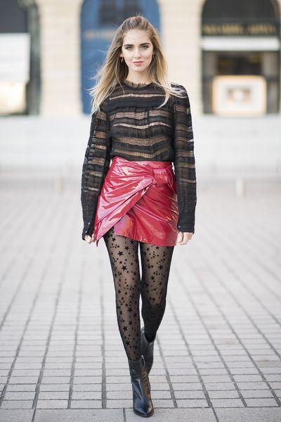 Chiara Ferragni in Isabel Marant and Zara shoes, Paris Fashion Week