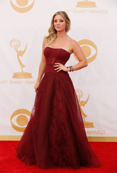 Kaley Cuoco on the Red Carpet for the 65th Primetime Emmy Awards