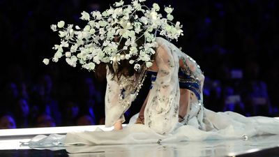 Fallen Angel: Spills on the runway during Victoria Secret show