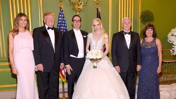 The Trumps attend the wedding of Steven Mnuchin