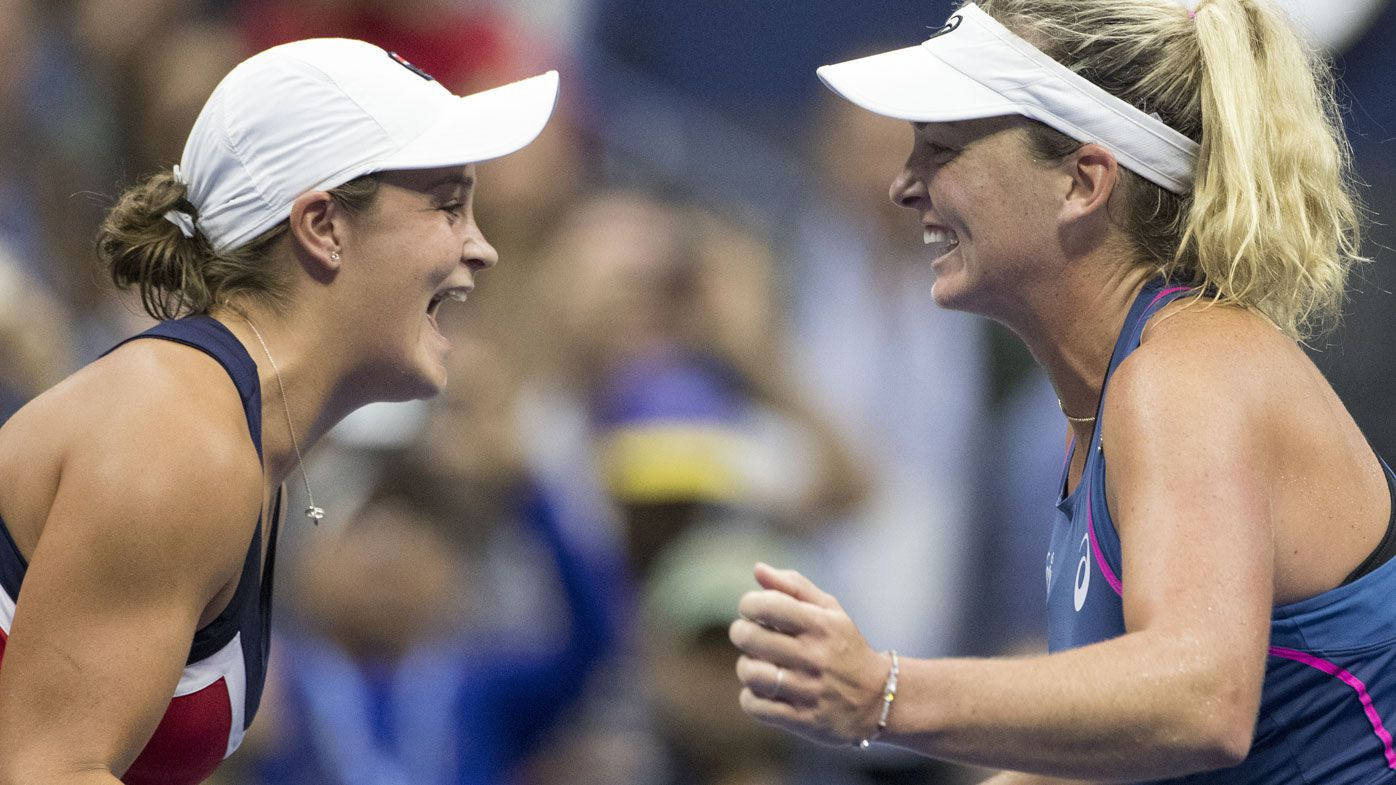 Ashleigh Barty wins US Open doubles crown with CoCo Vandeweghe