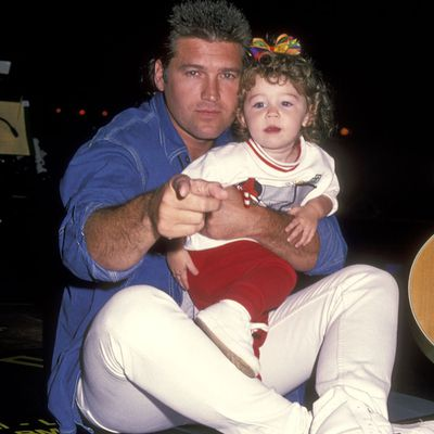 <p>Miley Cyrus and Billy Ray Cyrus</p>