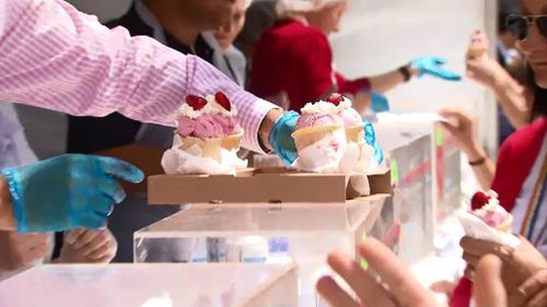 In Brisbane, more than 10,000 sundaes were sold in just a day.