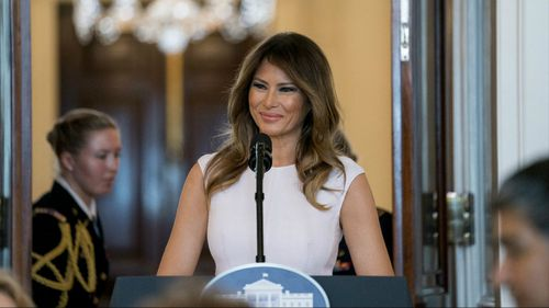 US First Lady Melania Trump praised the students who survived the Florida high school massacre, saying they were making their voices heard. (AAP)