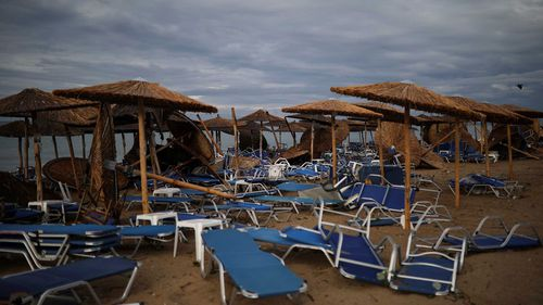 Six people were killed in the freak storm that hit northern Greece on Wednesday.