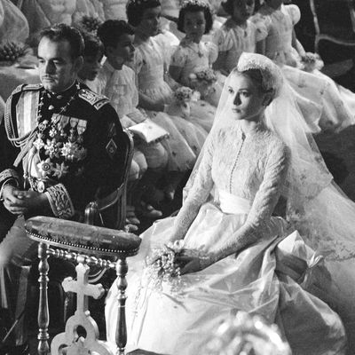 Grace Kelly on her wedding day, 1956
