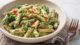 San Remo's vegan pesto pasta with broccolini