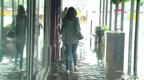 A sneak-peek at what the rest of Australia can expect? Storms caused flooding in Adelaide today. (9NEWS)