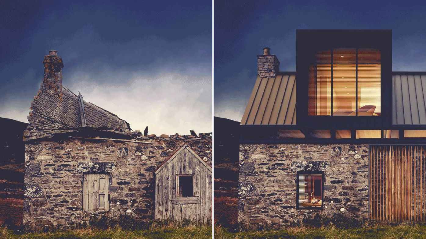 Abandoned Buildings Brought Back To Life split pic