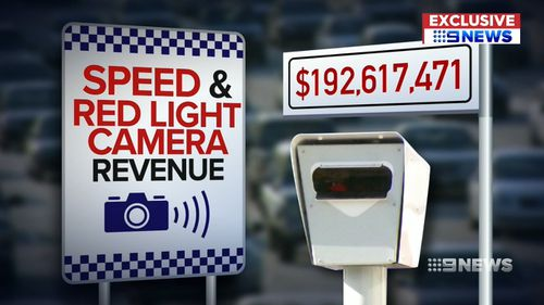 Drivers nabbed by red light cameras and speeding cameras have been fined a record 4193-million this year. Picture: 9NEWS
