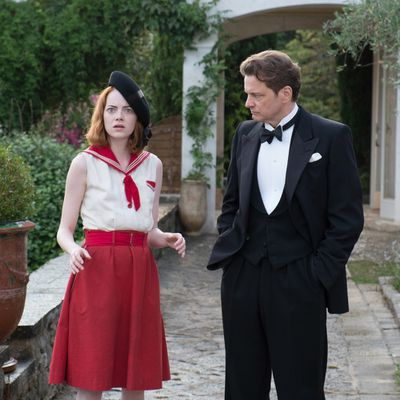 <p>Colin Firth and Emma Stone in <em>Magic in the Moonlight</em></p><p><strong>Age gap:</strong> 28 years, 2 1/2 months</p>