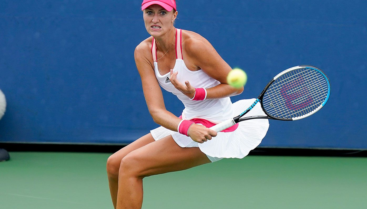 Kristina Mladenovic has lashed out at US Open organisers after a stunning second round collapse.