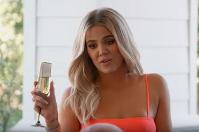 Khloé Kardashian makes toast on Keeping Up With the Kardashians