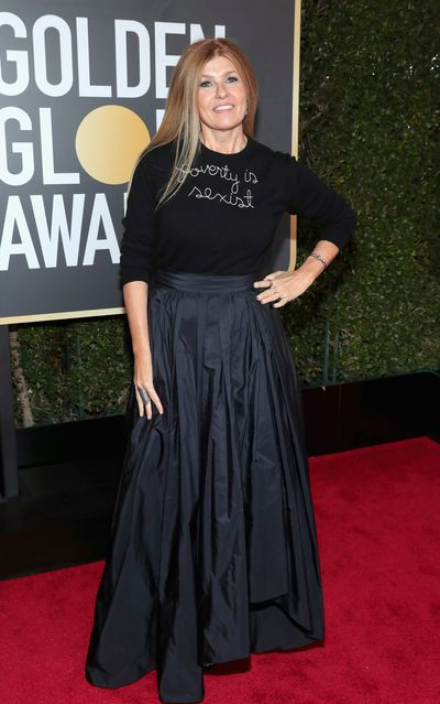 Actress Connie Britton at the 75th Annual Golden Globe Awards in January, 2018