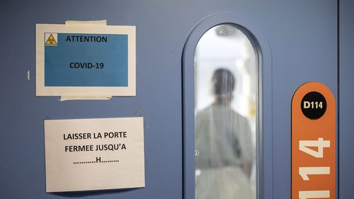 A nurse is seen in a COVID-19 area of the New Civil Hospital in Strasbourg, in eastern France (Photo: September 2020)
