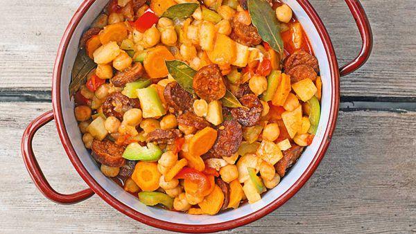 Chickpea stew with chorizo recipe