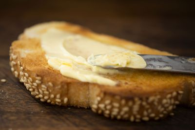 Swap butter on toast (approx 134 calories/slice)…