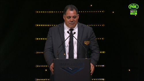 Meninga was inducted into the Immortals earlier this month.